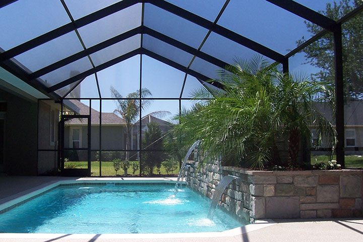 Different pool enclosure colors and shapes are a design factoe we work and decide with the client