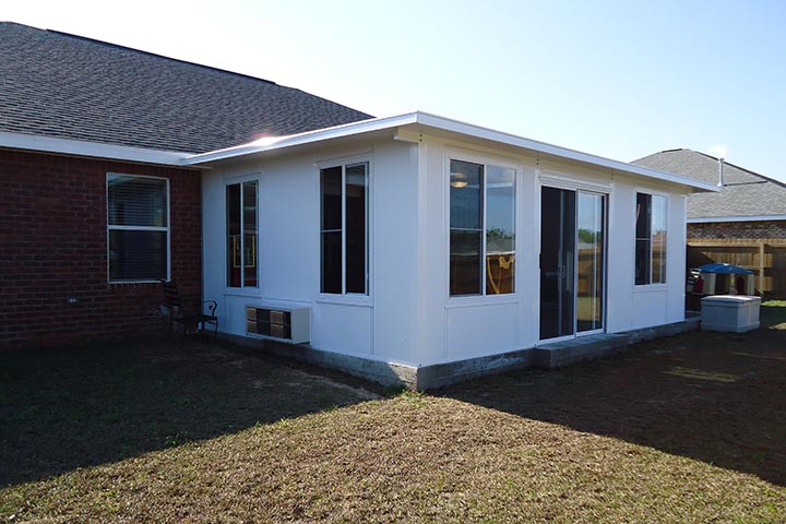 A whiteh surnoom designed specifically to match fit and match the house. Built under budget in Louisiana, LA