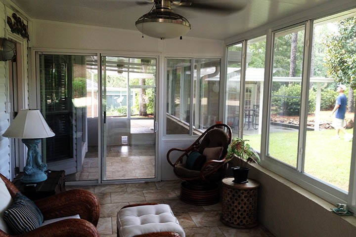 The Southern states benfit from sunrooms because a space is created that shelters from the weather with air consitioning and any ammenities desired to create a relaxing and fun environment for the family and guests