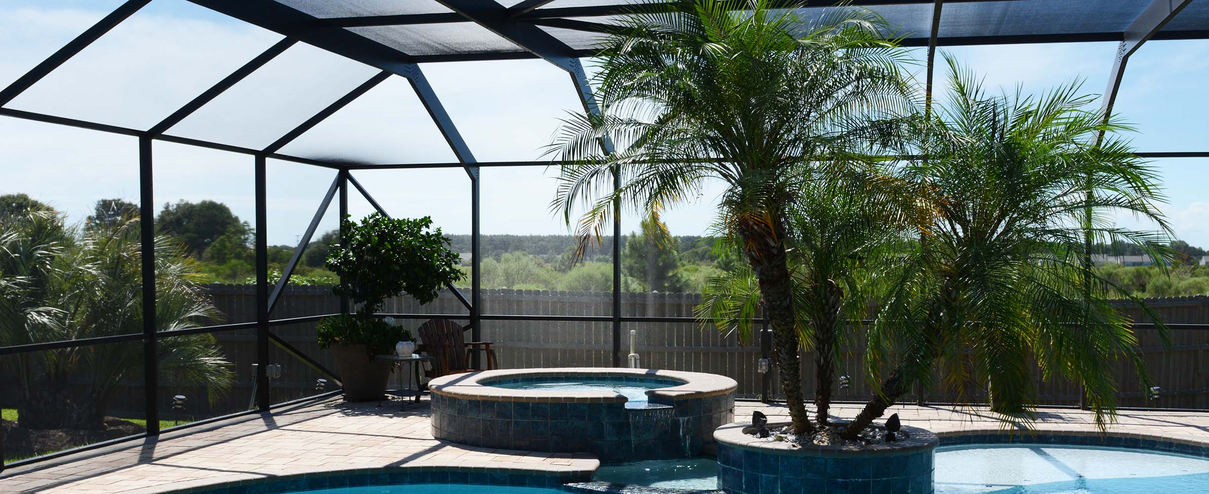 Sswimming pool enclosure in Baldwin County, Alabama